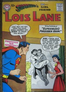 SUPERMAN'S GIRLFRIEND LOIS LANE #2 FINE (DC, June 1958) Stain on cover, see pics