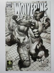 Wolverine (Marvel v3 2007) #53 Variant Edition B&W Signed by Simone Bianchi