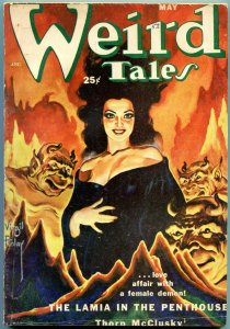 Weird Tales Pulp May 1952- Virgil Finlay- Thorn McClusky- G/VG