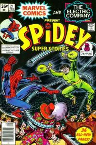 Spidey Super Stories #21 VG; Marvel | low grade comic - save on shipping - detai
