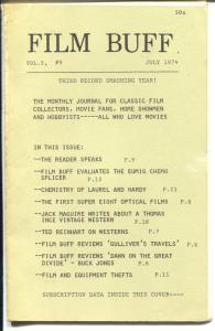 Film Buff Vol.3 #9 7/1974-Laurel & Hardy-historic info-VG