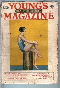 YOUNG'S REALISTIC STORIES MAGAZINE SEP 1928-FLAPPER CVR VG