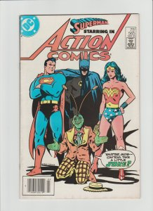 Action Comics #565 VG+ (1985, DC Comics) Cover art by Keith Giffen