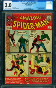 AMAZING SPIDER-MAN #4 CGC 3.0-1963-MARVEL-STEVE DITKO-1ST SANDMAN 2013424002