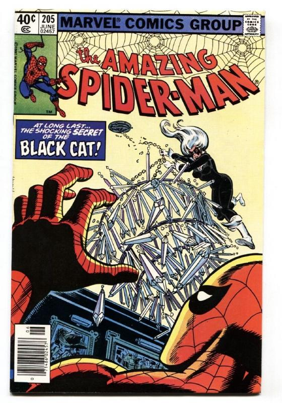 AMAZING SPIDER-MAN #205 comic book 1980-BLACK CAT-MARVEL VF/NM