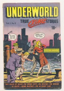 Underworld (1948 D.S. Pub.) #3 FN- Hard to find, extreme violence