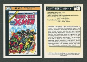 1990 Marvel Comics Card  #132 (Giant Size X-Men #1 Cover) / NM