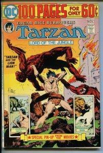 TARZAN #233 1974-DC-EDGAR RICE BURROUGHS-GIANT ISSUE-JOE KUBERT JUNGLE ART-vf
