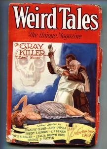 Weird Tales 11/1929-Skull cover!-Robert E Howard-Pulp Magazine