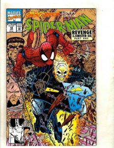 Lot Of 3 Spider-Man Marvel Comic Books # 18 19 20 NM SIGNED By Erik Larsen RM4
