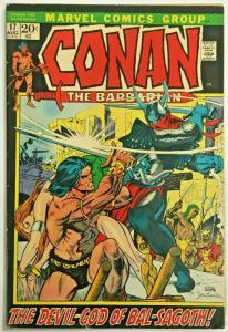 CONAN THE BARBARIAN#17 VG/FN 1972 MARVEL BRONZE AGE COMICS