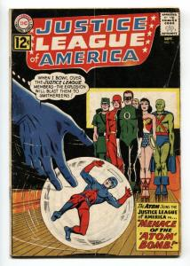 JUSTICE LEAGUE OF AMERICA #14 silver-age comic book-ATOM JOINS JLA