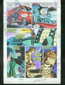 ORIGINAL D.C. COLOR GUIDE ROBIN ANNUAL #2 PG 16-SIGNED VG