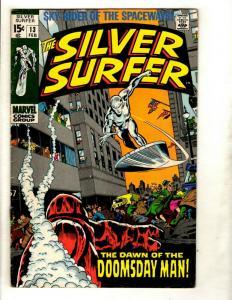 Silver Surfer # 13 VF Marvel Comic Book Avengers Fantastic Four Galactus GK1