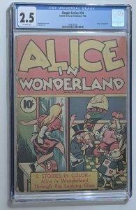 Single Series #24 (1940, United Features) CGC 2.5 Alice In Wonderland