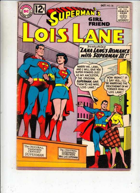 Superman's Girlfriend Lois Lane #36 (Oct-62) FN/VF- Mid-High-Grade Superman, ...