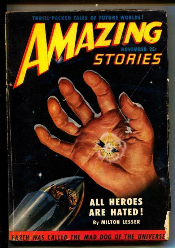 Amazing Stories-Pulps-11/1950-Milton Lesser-Mack Reynolds