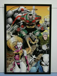 1993 Wildstorm Stormwatch Art Portfolio Print SIGNED JIM LEE TREVOR SCOTT W/ COA