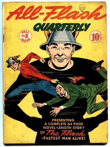 ALL-FLASH #2-GREAT COVER-1941-RADRE GOLDEN AGE DC-FLASH VG