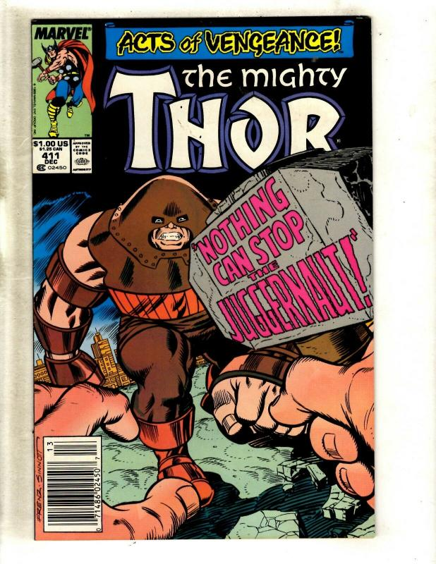 The Mighty Thor # 411 VF/NM Marvel Comic Book 1st New Warriors Appearance WS9