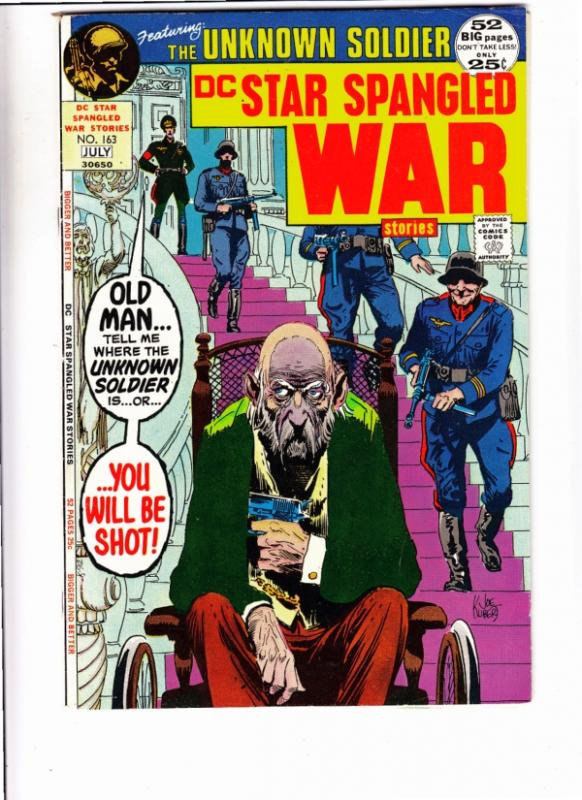 Star Spangled War Stories #163 (Jul-72) VF/NM High-Grad Unknown Soldier