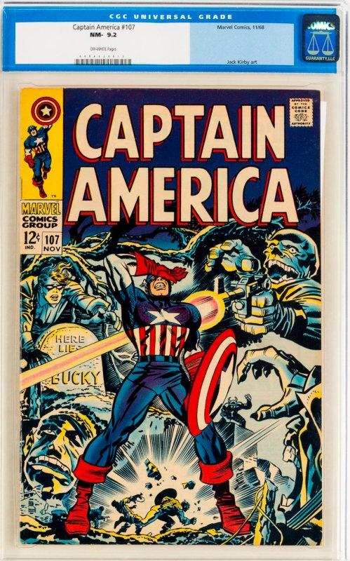 Captain America #107 CGC Graded 9.2