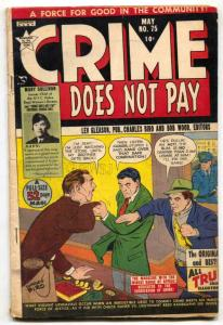 CRIME DOES NOT PAY #75 1949- electric chair- Golden Age VG