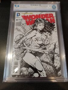 WONDER WOMAN #36 CBCS 9.6 DAVID FINCH B&W VARIANT RETAILER INCENTIVE 1 IN 50!