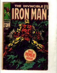Invincible Iron Man # 1 VG Marvel Comic Book Silver Age Avengers Hulk Thor GK1