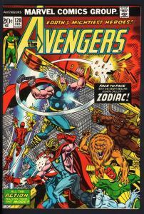 AVENGERS #120-zodiac-vision-Thor-captain america-1974-VF-