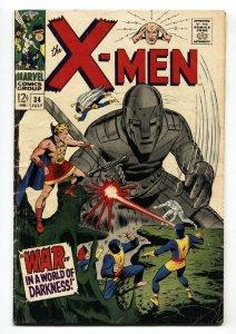 X-MEN #34 1967-MARVEL COMICS-Cyclops comic book  VG