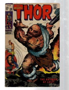 Mighty Thor # 159 FN Marvel Comic Book Loki Odin Asgard Sif Avengers Hulk RB8