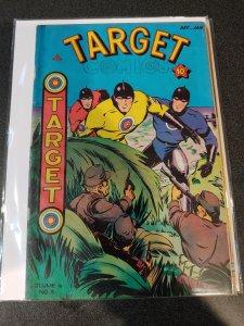 TARGET COMICS VOL. 6 #9 1946 GOLDEN AGE CLASSIC
