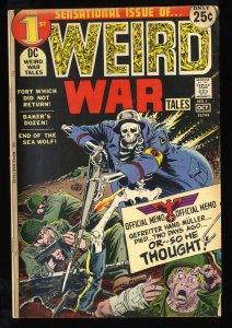 Weird War Tales #1 VG+ 4.5