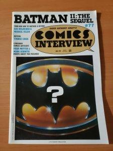 David Anthony Kraft's Comics Interview #77 ~ VERY FINE - NEAR MINT ~ 1989 Batman