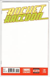 ROCKET RACCOON #1-Blank Variant cover-First issue-marvel 2014-nm-