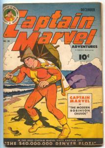 Captain Marvel Adventures #30 1943-ROBINSON CRUSOE VG