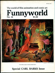 Funnyworld  #16 1974-Carl barks bibliography & cover-VG/FN
