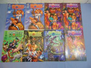 8 Image Dollz Comic Books - Five Variant Cover Issues #1 - Dynamic Force w/ COA