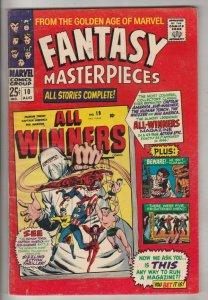 Fantasy Masterpieces #10 (Aug-67) FN/VF Mid-High-Grade Captain America, Bucky...