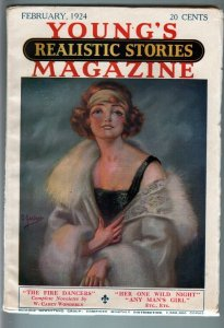 YOUNG'S REALISTIC STORIES FEB 1924-PULP-FLAPPER FN/VF