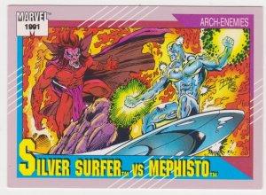 1991 Marvel Universe #123 Silver Surfer vs Mephisto