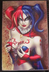 SIGNED Dawn Mcteigue Harley Quinn Print!11x17 NM Batman DC 2-TONE HAIR
