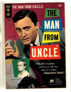 The Man From UNCLE # 4 VF Gold Key Silver Age Comic Book Photo Cover TV JF11