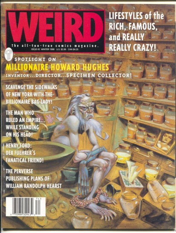 Weird #2 1998-Howard Hughes-Henry Ford-Gahan Wilson-Russ Heath-Marie Severin-VF