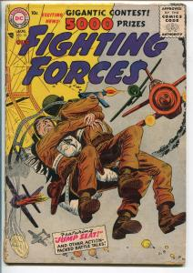 OUR FIGHTING FORCES #12-1956-DC-SILVER AGE-PARACHUTE COVER-good