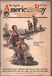 American Boy 4/1923-Wm. Clarke cover-Frank Schoonover-pulp fiction-G