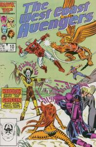 West Coast Avengers #10 VF/NM; Marvel | save on shipping - details inside