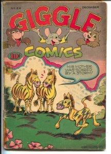 Giggle #24 1945-ACG-Ken Hultgren Zebra gag cover-Superkatt-FR
