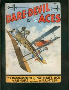 DARE-DEVIL ACES PULP-5/1935-CATACOMB STAFFEL-RED FALCON VG